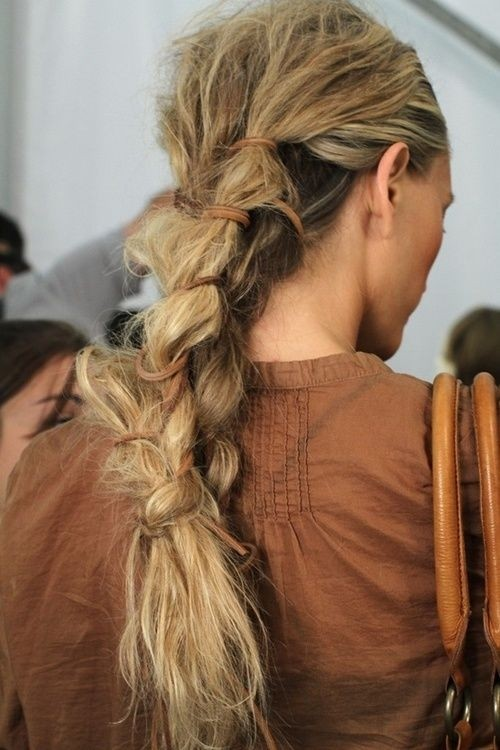 Cool, Messy Braid Ponytail Hair Style