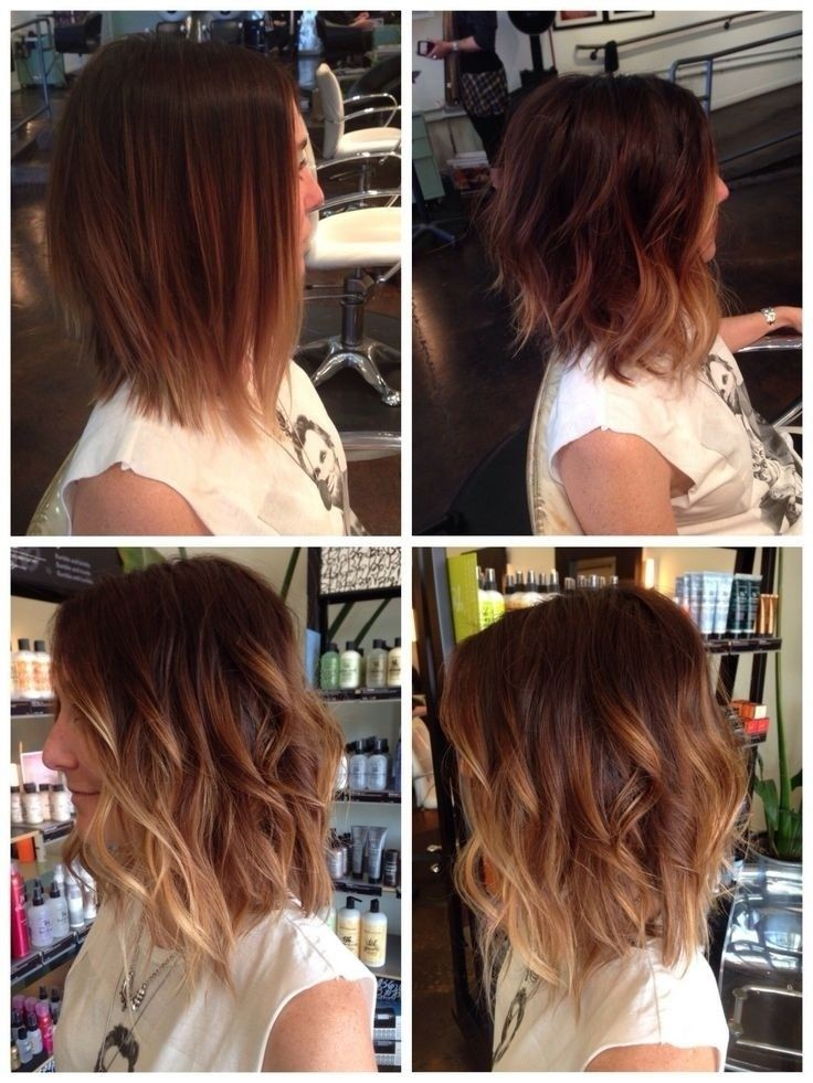 Cute Medium Layered Wavy Hairstyles Stylish Ombre Hair