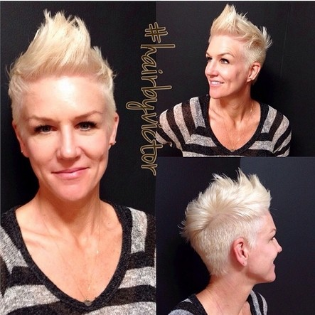 Funky Blonde, Spikey Pixie Cut