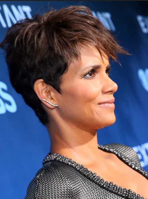 Halle Berry Short Hairstyle - Stylish Pixie Haircuts for Thick Hair
