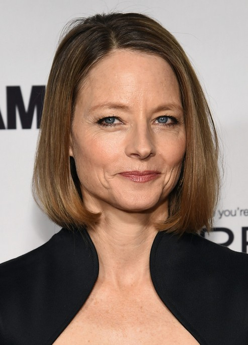 Jodie Foster Short Hairstyle - Classic Straight Bob Haircuts