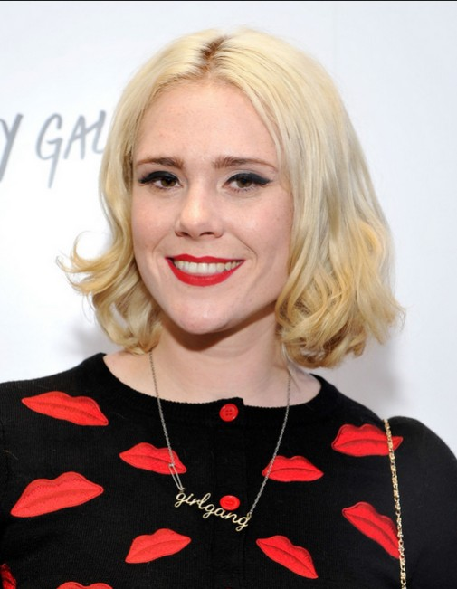 Kate Nash Short Hair Cut - Blonde Curly Hairstyles for Women