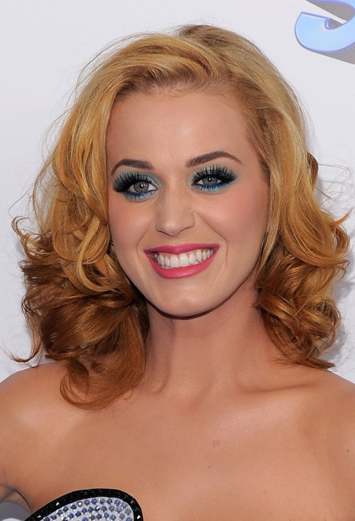 Katy Perry Medium Hair Cut Ombre Curls Popular Haircuts
