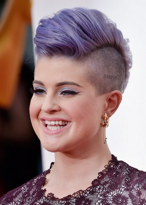 Kelly Osbourne Short Fauxhawk Haircuts - Shaved Hairstyles