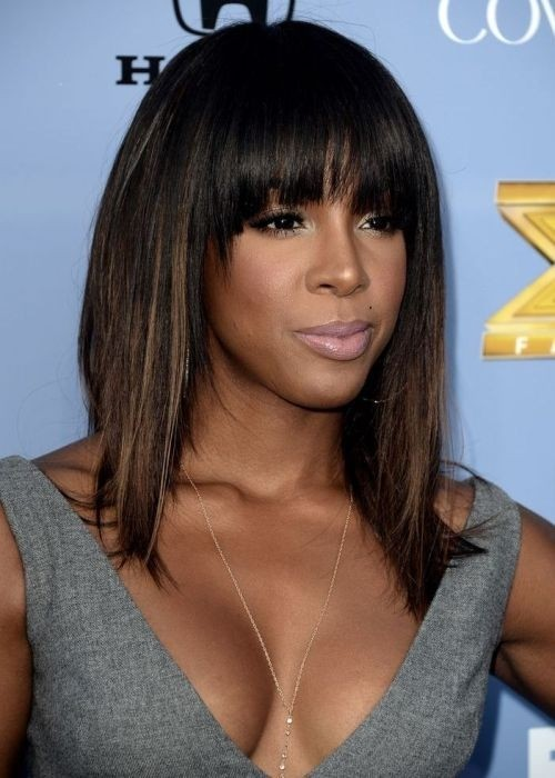 10 New Black Hairstyles with Bangs , PoPular Haircuts