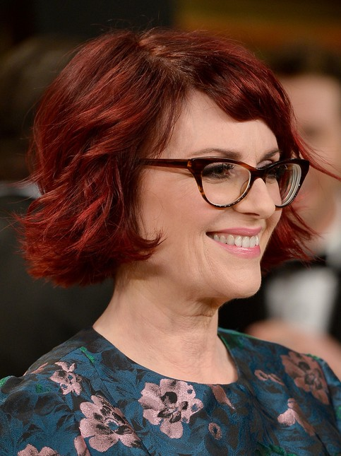Megan Mullally Short Haircut - Pretty Red Hair Color