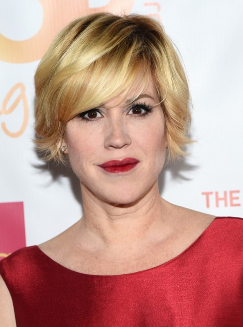 Molly Ringwald Short Haircut - Celebrity Pixie Hairstyles for Blonde Hair