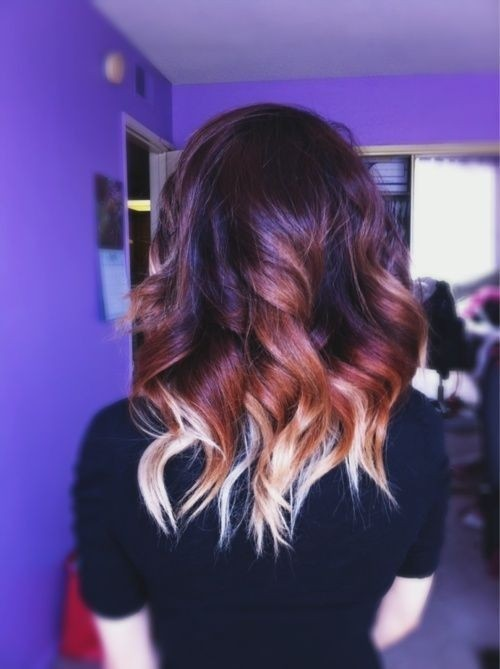 Ombre Curly Hairstyles for Medium Hair