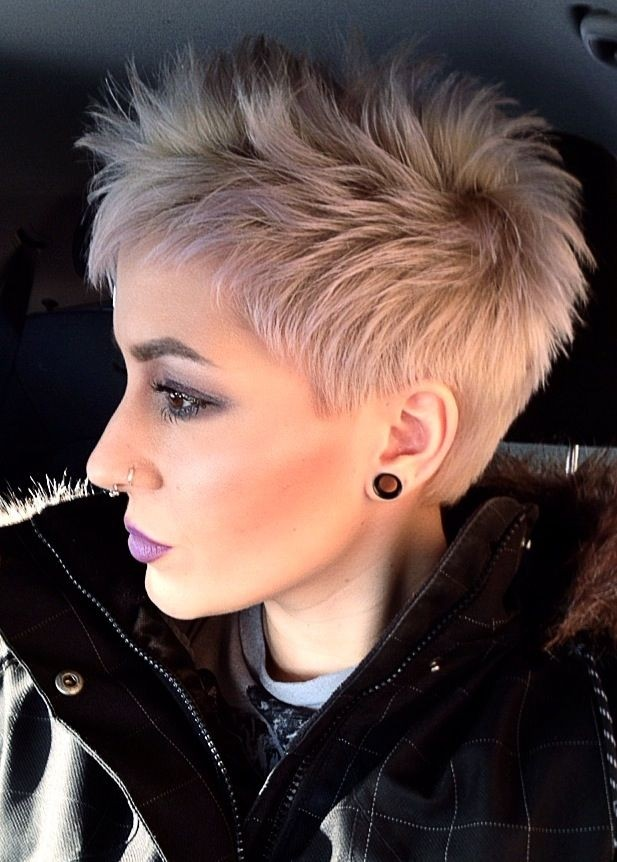 Platinum Pixie Cut for Thick Hair