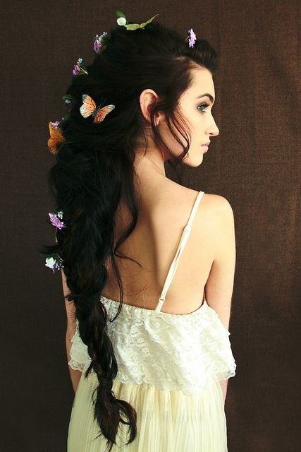 Pretty, Messy Braid Ponytail Hairstyle