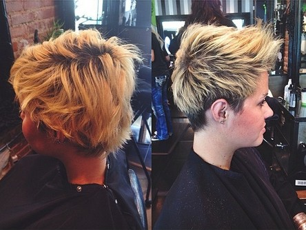 Pretty Short Spikey Hairstyles for Summer 2015