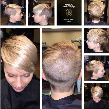 Shaved Short Hairstyles for Fine Straight Hair