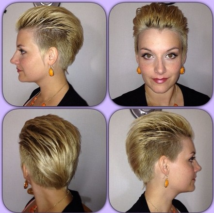Shaved Short Hairstyles for Women