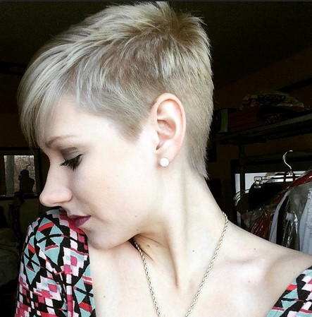 Just girl hair cut short and shaved