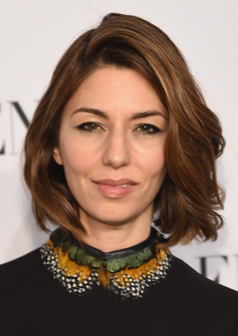 Sofia Coppola Brown Short Wavy Hairstyle