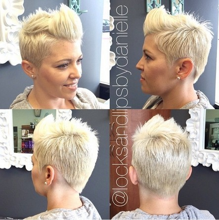 Spikey Blonde Hairstyles for Short Hair
