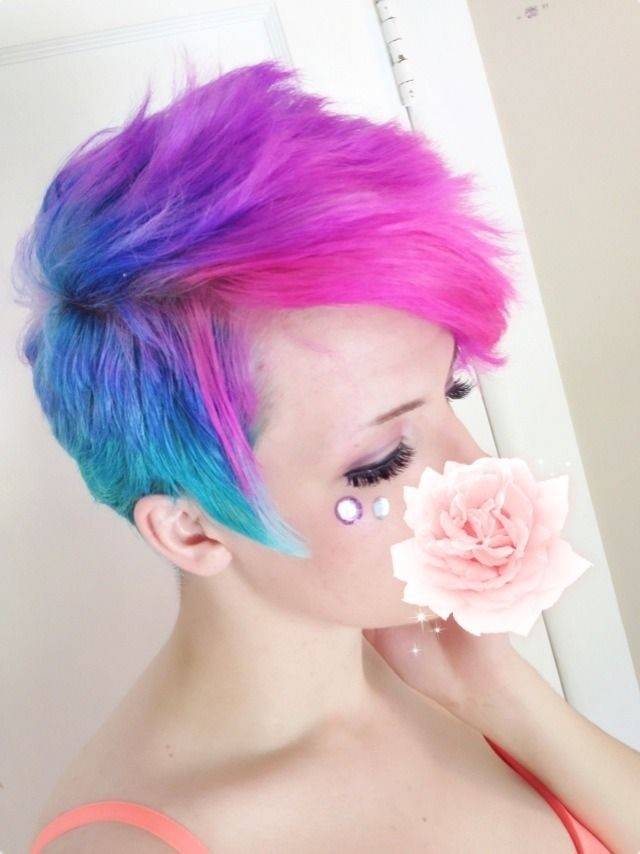 Spikey Ombre Short Hair - Girls Hairstyles