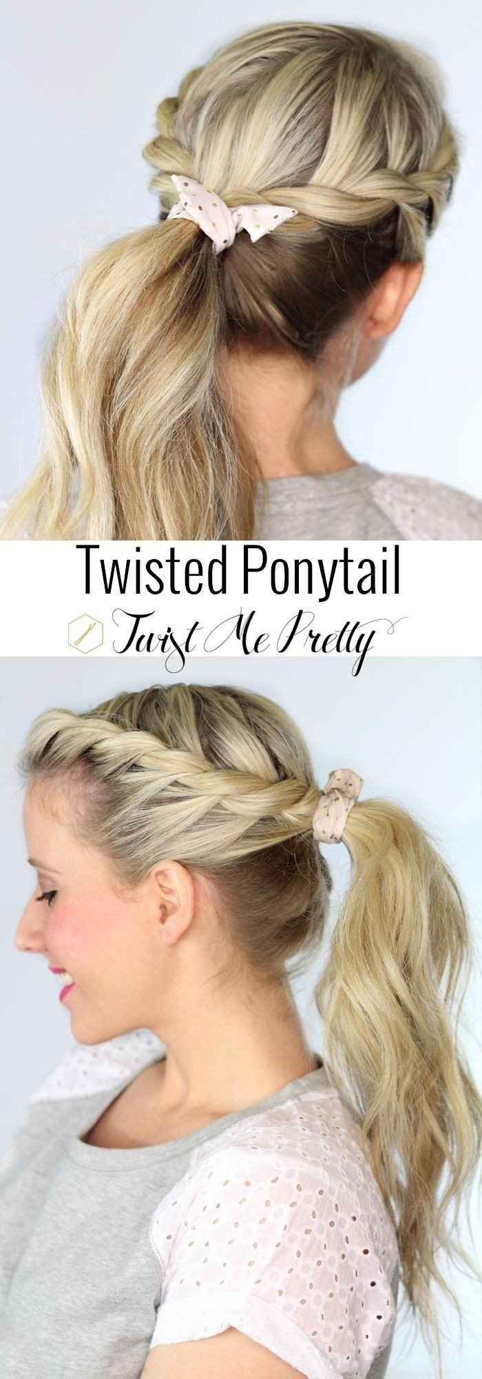 Twisted Ponytail - Easy Long Hairstyle Ideas for Summer