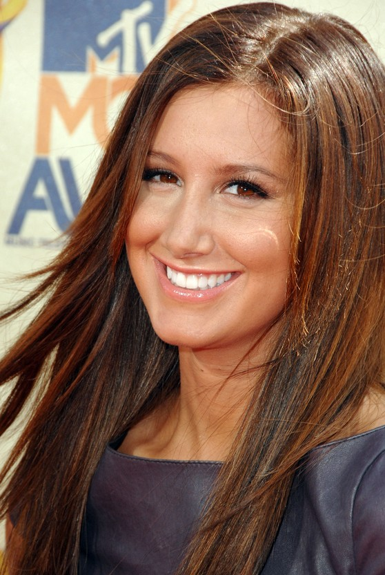 Ashley Tisdale Straight Long Hair Style