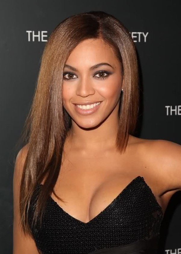 Beyonce Knowles Long Straight Cut