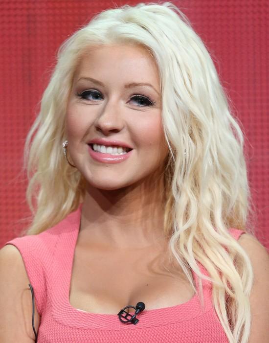 Christina Aguilera Layered Long Haircut