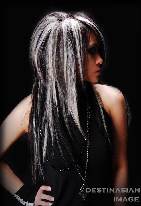 Dark Brown Hair With Platinum Blonde Highlights 20 hair with blonde ...