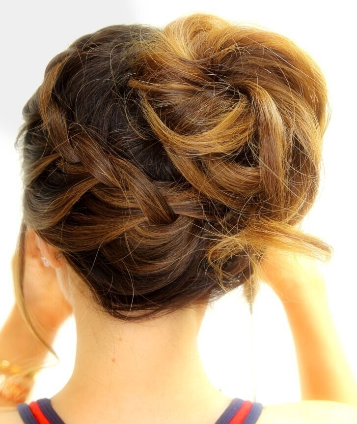 Braided Updo Hairstyles For School Workouts Sports And Everyday Medium Hair