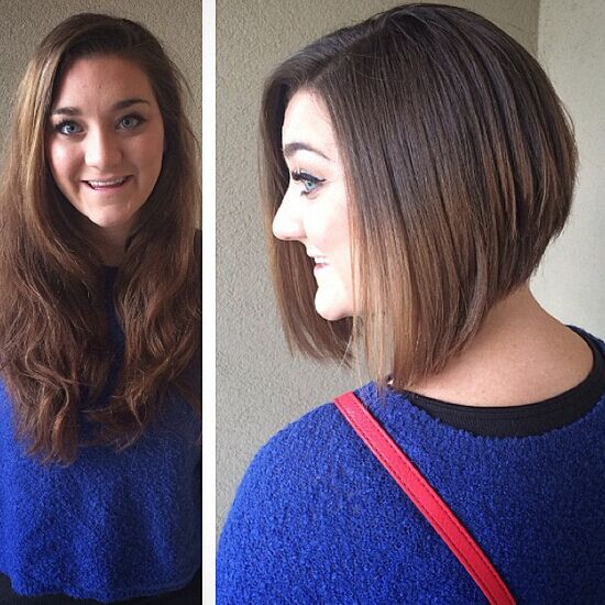 Classic Stacked Bob Haircut Side View