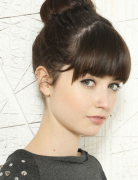 Cute, Easy Updos with Bangs