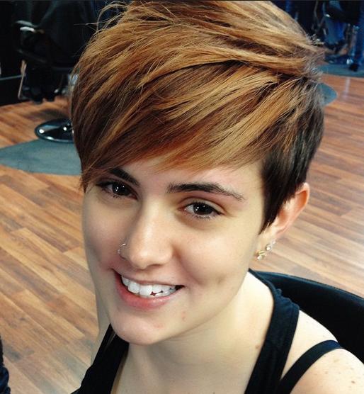 Cute Short Haircut with Side Bangs