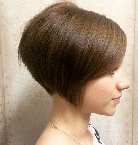 Cute, Straight Short Bob Haircut for Brown Hair - Easy, Everyday Hairstyles