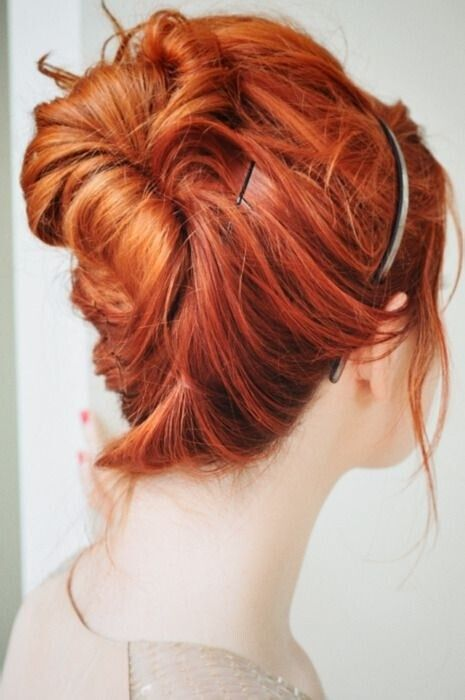 Five-Minute Bun Updos for Medium Hair