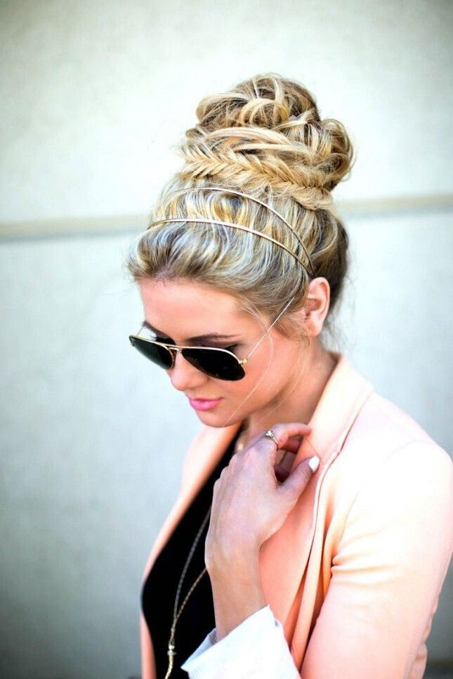 Flawless Travel Hairstyles: High Bun Updo