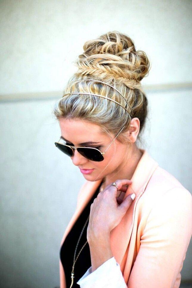 Flawless Travel Hairstyles: High Bun Updo