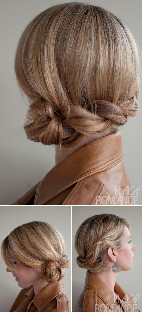 Low Dutch Twisted Braid Updo: Easy Loose Updos Tutorial
