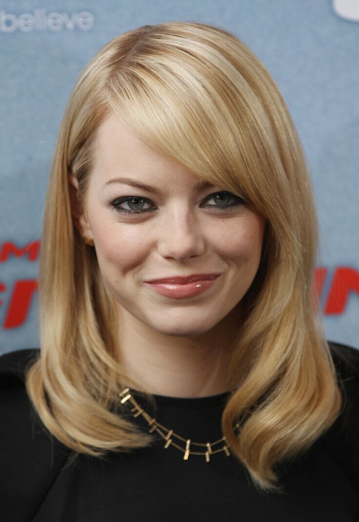... for Fine Hair with Side Bangs - Celebrity Hairstyles for Round Faces