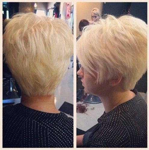 Shaggy Hairstyle for Short Hair - Blonde Haircut for Women and Girls