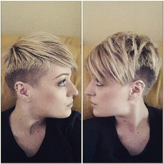 Shaved Short Haircut for Thick Hair