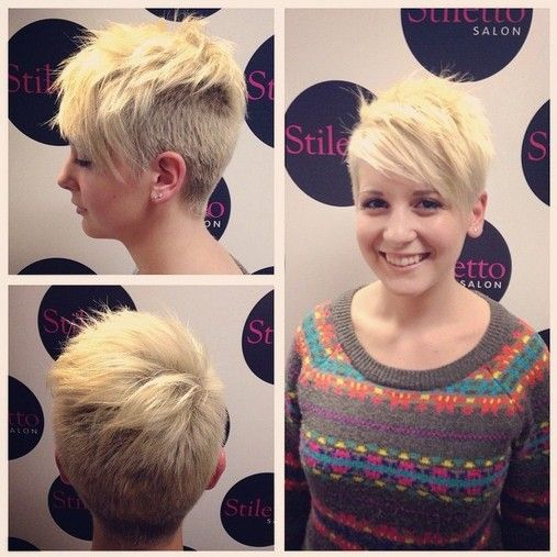 Shaved Short Pixie Haircut for Girls