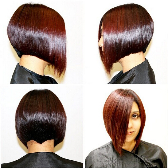 Sleek A-line Bob Haircut for Short Hair