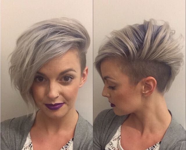 Stylish Color with Asymmetric Short Hair
