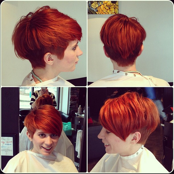Stylish Red Color Hair Styles for Short Hair