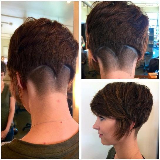 Stylish Short Haircut with Long Bangs