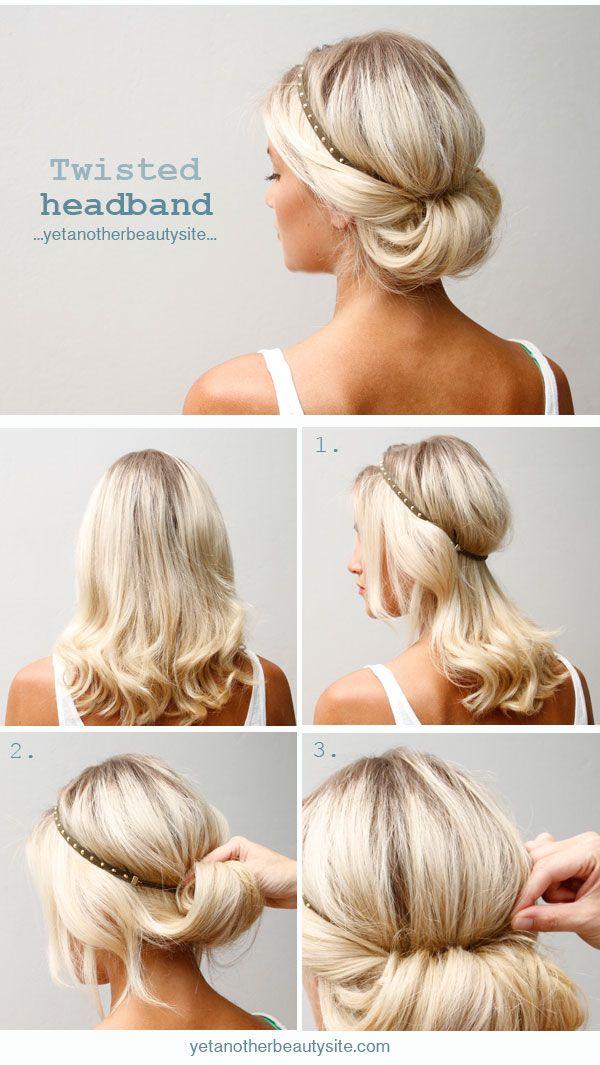 Easy hairstyles to do on yourself for medium hair hairstyles 18 quick and simple updo hairstyles for medium hair por haircuts solutioingenieria Gallery