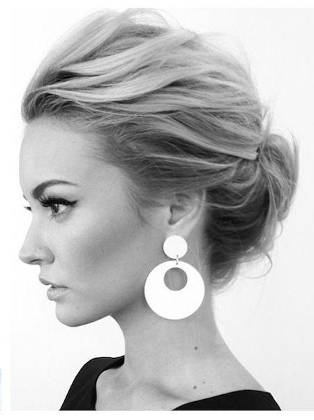 Updos for Women Medium Hair - Office Hairstyle Ideas