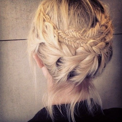 Braided Crown Hair Styles - Updo Hairstyle Ideas for Medium, Short Hair