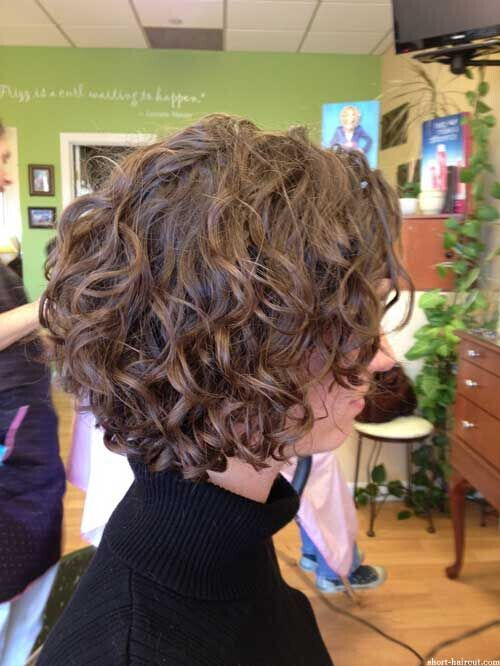 Brown, Short Curly Hairstyle