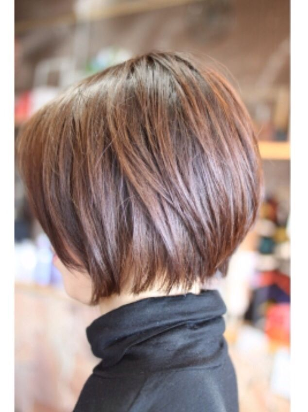 Brown, Straight Short Bob Haircut