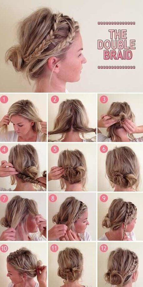 Admirable Braided Updo Hairstyle For Medium Long Hair Tutorial Short Hair Hairstyles For Men Maxibearus