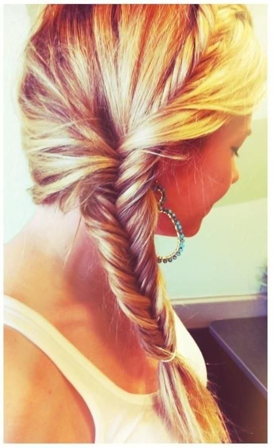 Cute French Fishtail Braid Hairstyle